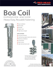 Boa Coil Expansion Anchor