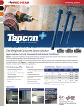 Tapcon+ Screw Anchor